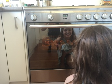 What luxury: an oven!